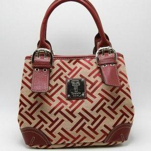 Tignanello T Logo Fabric Purse Handbag